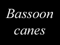 Bassoon canes, Glotin, The French Art Studio